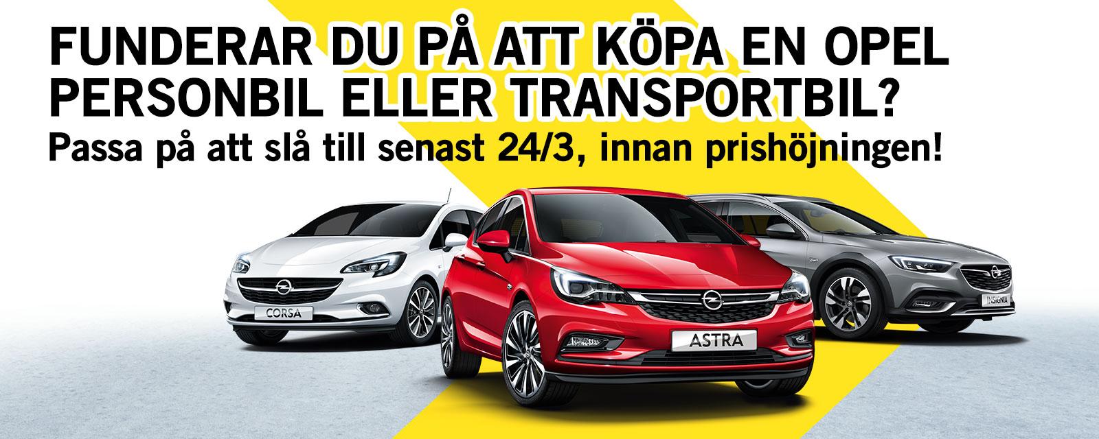 Fribrocks Bil AB - Opel prishöjning